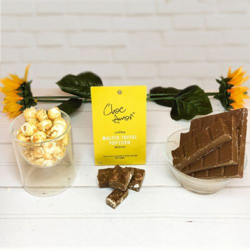 Choc Amor's Malted Chocolate & Toffee Popcorn - islamic gift
